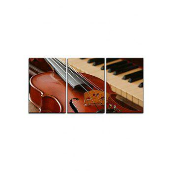 Guitar Piano Print Split Canvas Paintings - multicolor 3PC:12*18 INCH( NO FRAME )