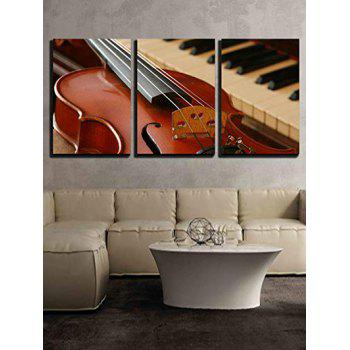 Guitar Piano Print Split Canvas Paintings - multicolor 3PC:16*24INCH(NO FRAME)