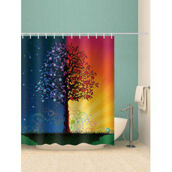 Starry Sky And Sunlight Print Water Resistant Shower Curtain - multicolor W65 INCH * L71 INCH