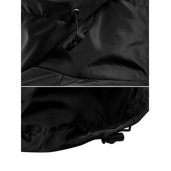 Waterproof Windbreaker Solid Hooded Jacket - BLACK S
