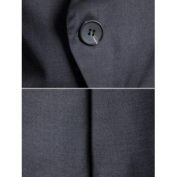 Casual Stand Collar Asymmetric Sideling Buttons Suit Blazers - ASH GRAY M
