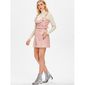 Pinafore Dress with Adjustable Straps - PINK XL