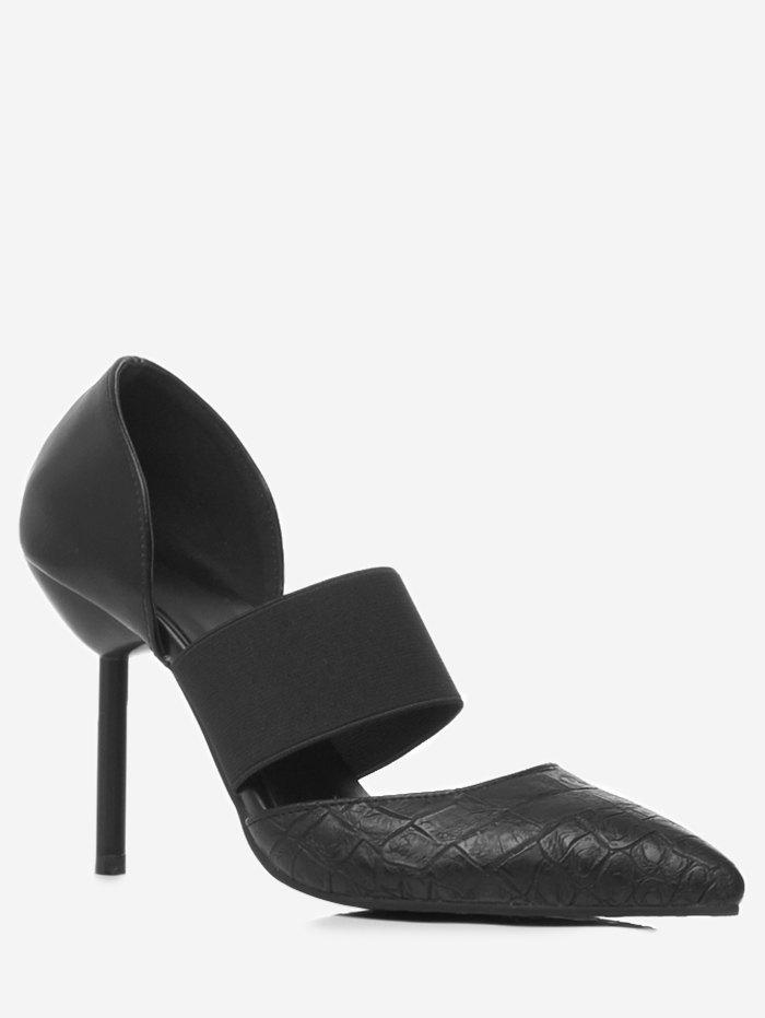 Plus Size High Heel Pointed Toe Pumps - BLACK 42