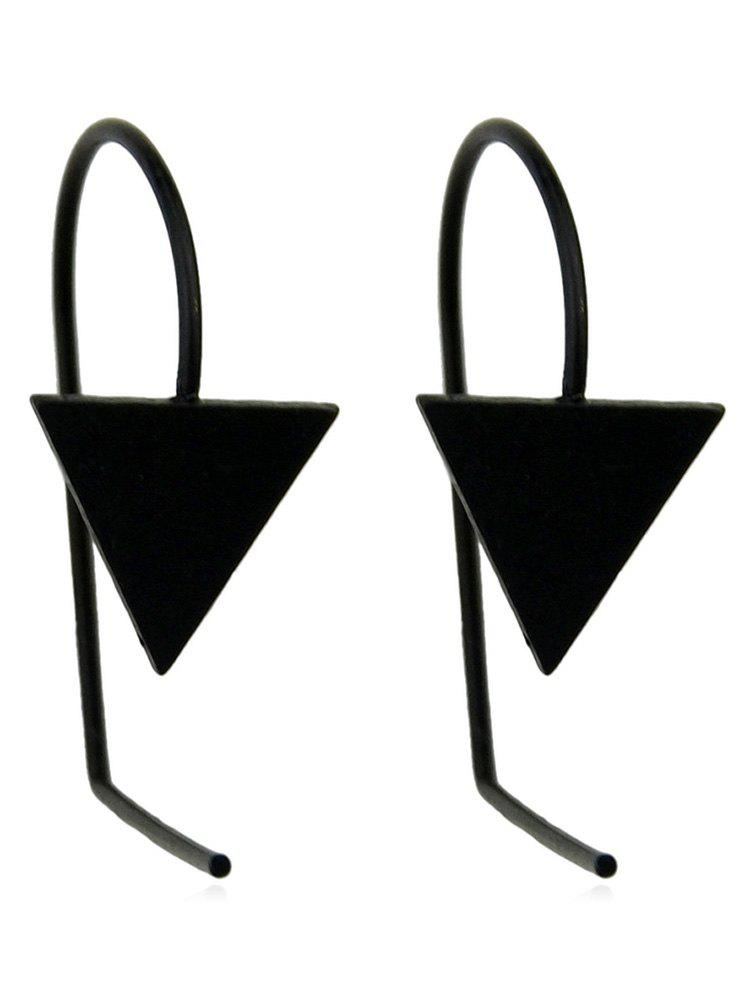 Simple Triangle Earrings - BLACK