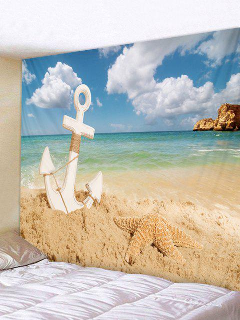 Starfish Beach Anchor Tapestry Art Decoration - multicolor W79 INCH * L59 INCH