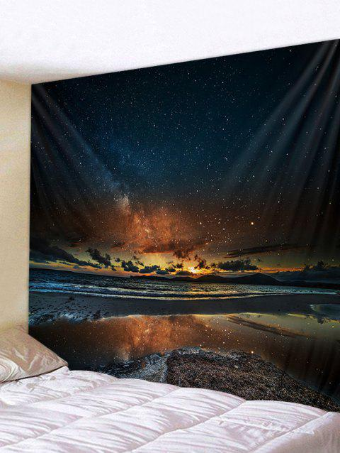 Sunset Glow Star Universe Tapestry Art Decoration - multicolor W91 INCH * L71 INCH