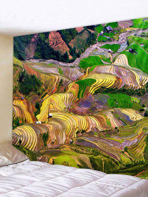 Terraced Fields Print Tapestry Wall Art Decor - multicolor W79 INCH * L59 INCH