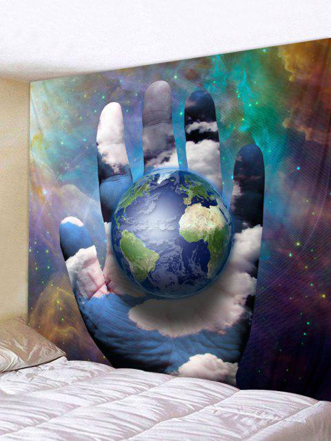 Earth Galaxy Print Tapestry Wall Art - multicolor W59 INCH * L51 INCH