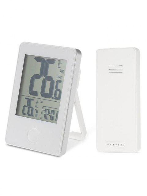 LCD Digital Display Thermometer With Wireless Sensor - WHITE