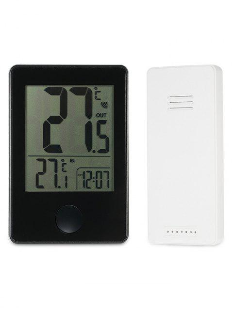 Digital Thermometer With Wireless Remote Sensor - BLACK
