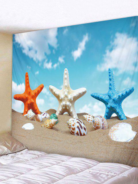 Starfish Conch Beach Tapestry Wall Decoration - multicolor W79 INCH * L59 INCH