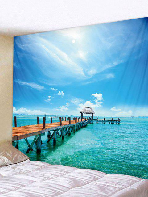 Sea Scene Tapestry Art Decoration - multicolor W91 INCH * L71 INCH
