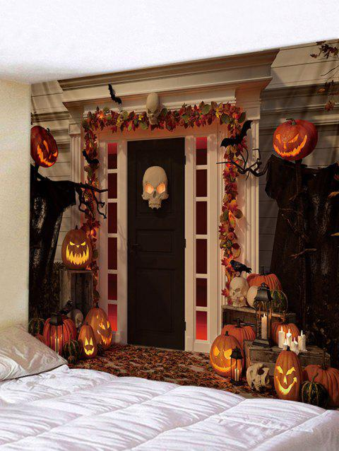 Halloween Pumpkin Print Tapestry Wall Art Decoration - multicolor W59 INCH * L51 INCH