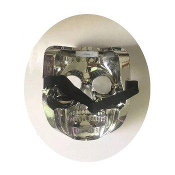 Skull Design Cosplay Party Luminous LED Halloween Mask - SILVER