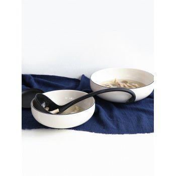 Swan Soup Ladle with Tray - BLACK