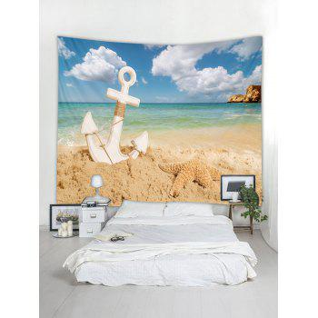 Starfish Beach Anchor Tapestry Art Decoration - multicolor W59 INCH * L51 INCH