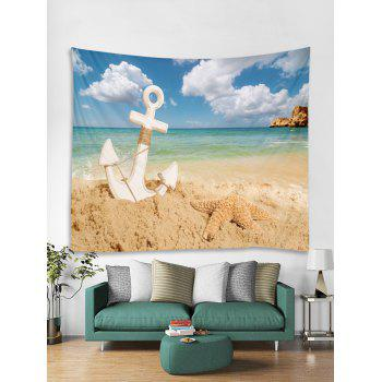 Starfish Beach Anchor Tapestry Art Decoration - multicolor W79 INCH * L71 INCH