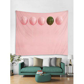Balloon Watermelon Print Tapestry Wall Decoration - LIGHT PINK W59 INCH * L51 INCH