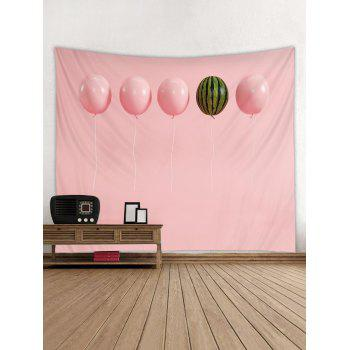 Balloon Watermelon Print Tapestry Wall Decoration - LIGHT PINK W91 INCH * L71 INCH