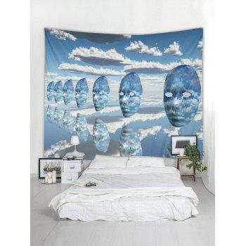 Cloud Face Print Tapestry Wall Art - SKY BLUE W59 INCH * L51 INCH