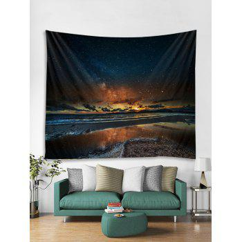 Sunset Glow Star Universe Tapestry Art Decoration - multicolor W59 INCH * L59 INCH