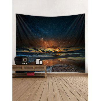 Sunset Glow Star Universe Tapestry Art Decoration - multicolor W59 INCH * L51 INCH