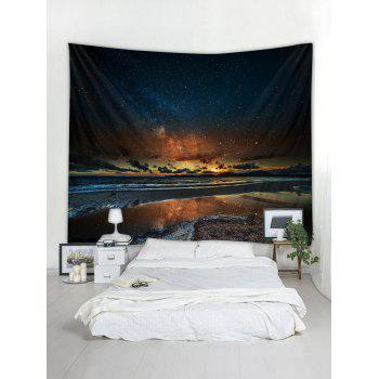 Sunset Glow Star Universe Tapestry Art Decoration - multicolor W79 INCH * L71 INCH