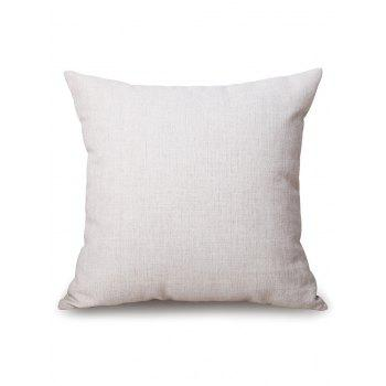 Number 1 to 9 Pattern Decorative Linen Pillowcase - MILK WHITE W17.5 INCH * L17.5 INCH