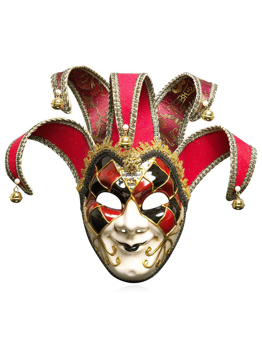 Halloween Christmas Festival Masquerades Party Jester Mask - multicolor A