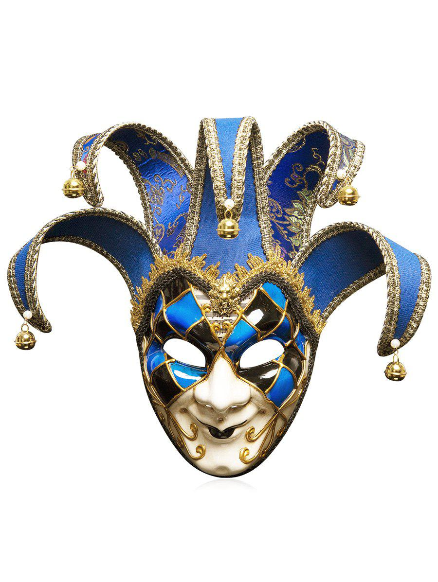 Halloween Christmas Festival Masquerades Party Jester Mask - multicolor B