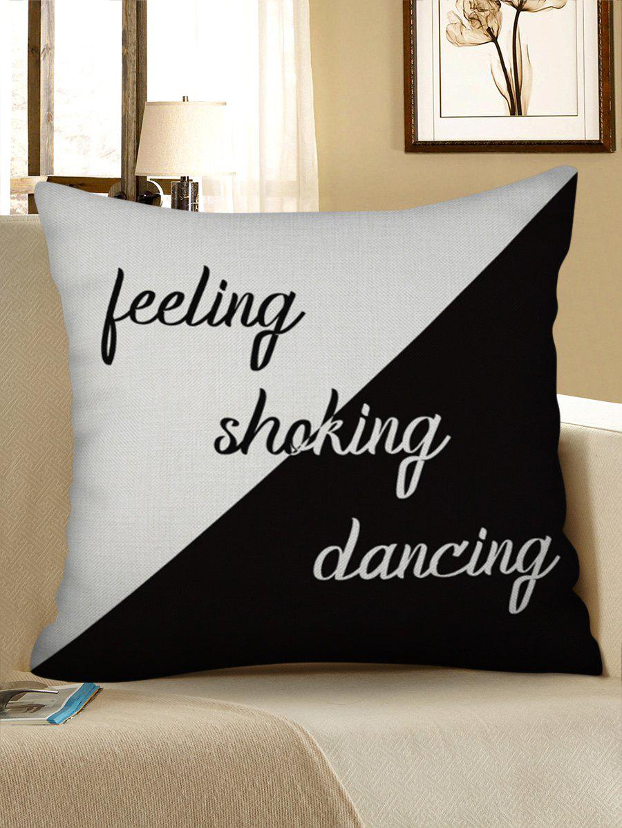 Simple Letter Pattern Decorative Linen Pillowcase - BLACK W17.5 INCH * L17.5 INCH