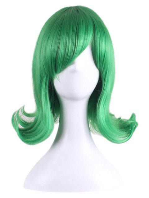 Short Tail Upwards Straight One Punch Man Tatsumaki Anime Cosplay Synthetic Wig - GREEN