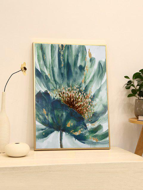 DIY Frame Flower Printed Detachable Wall Painting - multicolor 20*28 INCH