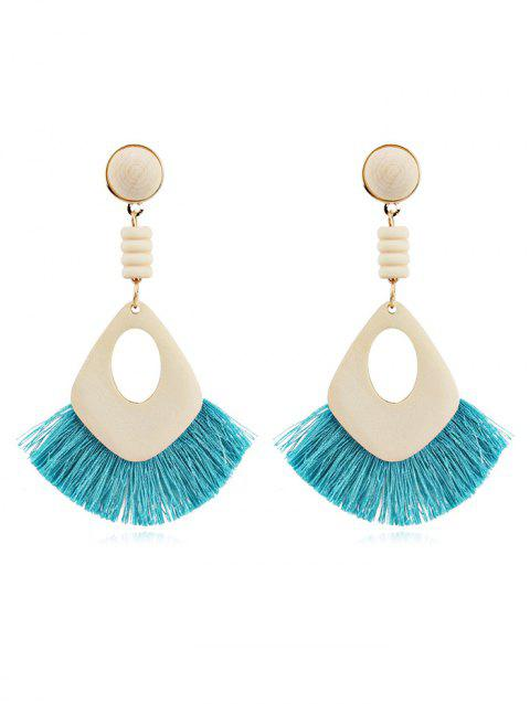 Hollow Out Boho Tassel Dangle Earrings - SKY BLUE