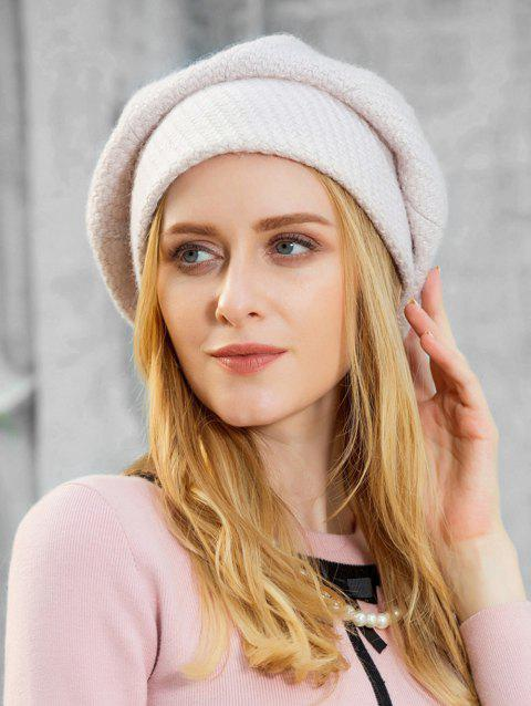 Stylish Solid Color Soft Beret - WHITE