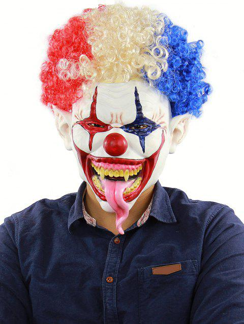 Afro Clown Head Masque Halloween Accessoires - multicolor