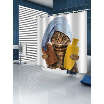 Cat Pattern Waterproof Shower Curtain - multicolor W71 INCH * L71 INCH