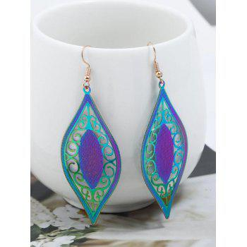 Vintage Hollow Out Boho Hook Earrings - multicolor