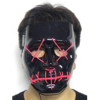 Halloween EL Glowing Ghost Mask - HOT PINK