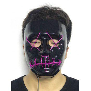 Halloween EL Glowing Ghost Mask - PURPLE FLOWER