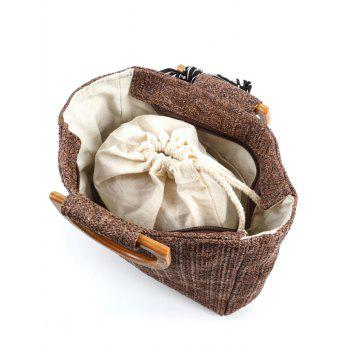 Woven Bowknot Leisure Holiday Tote Bag - COFFEE