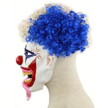 Afro Clown Head Mask Halloween Accessories - multicolor