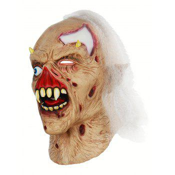 Zombie Shaped Head Mask Halloween Accessories - multicolor