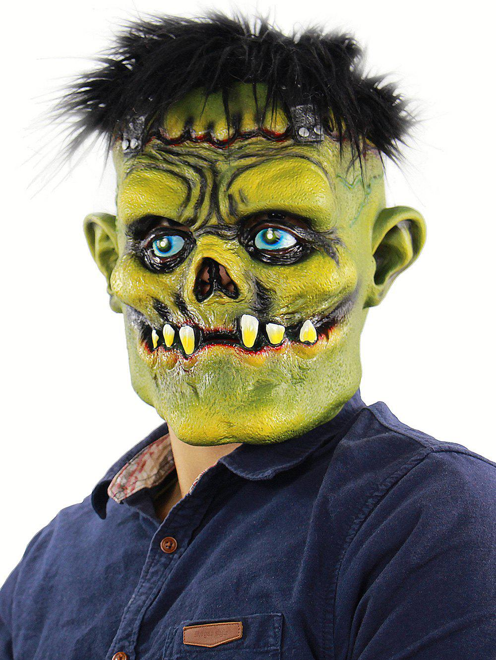 Masque de tête de monstre de fête d'Halloween - multicolor