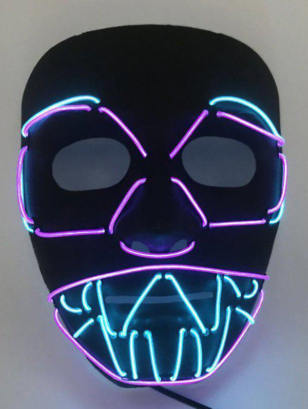 EL Glowing Mask Halloween Party - multicolor