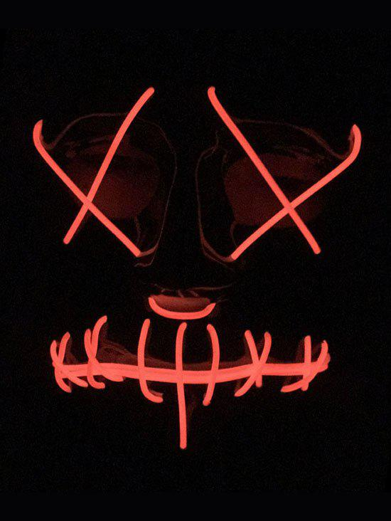 Halloween EL Glowing Ghost Mask - FIRE ENGINE RED