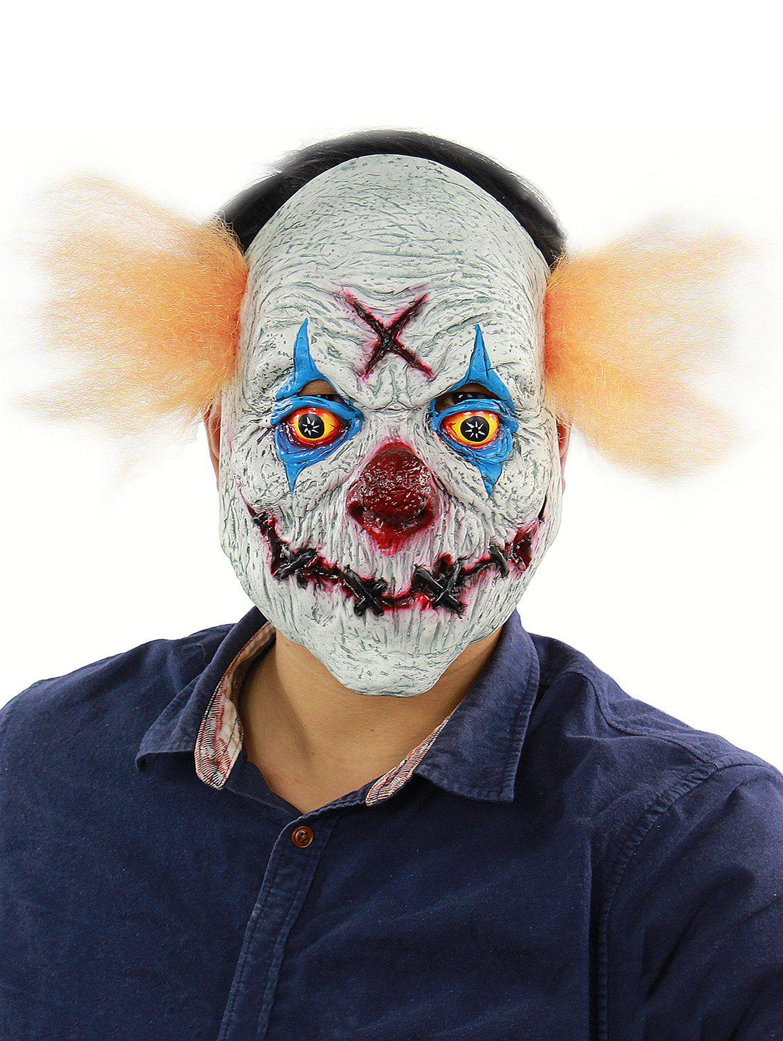 Devil Clown Head Mask Halloween Party Accessories - multicolor