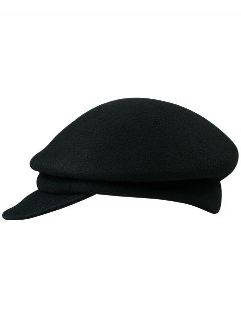 Retro Solid Color Soften Duckbill Hat - BLACK