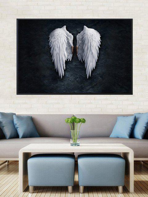 Angel Wings Print Framed Canvas Painting - BLACK 16*24 INCH
