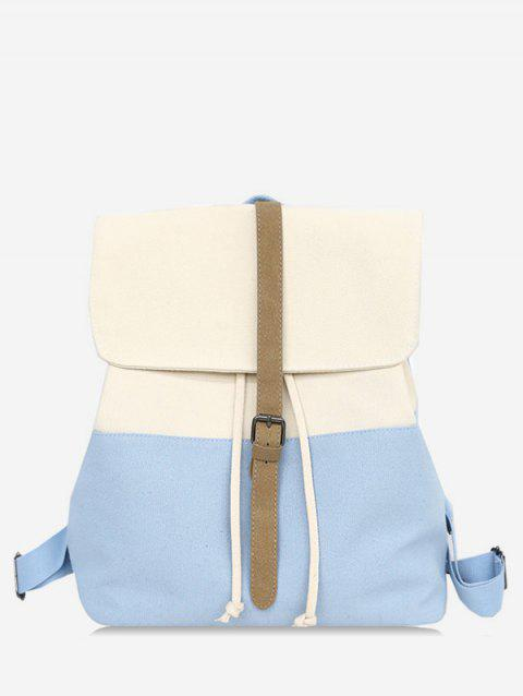 Casual Contrasting Color School Backpack - BLUE ANGEL